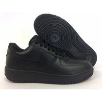 Tênis Nike Couro Preto Ou Branco Cadarço Super Confortável