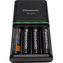 Carregador + 4 Pilhas Aa Recarregáveis Eneloop Pro Panasonic