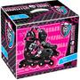 Patins Inf.ajustável Monster High Com Kit De Proteção - Fun