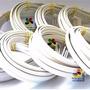 2000 Tiara Plástico Branca 10mm Montagem Forrar Encapa Aeio@