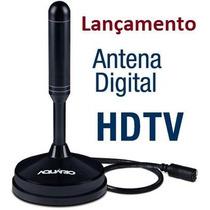 Antena Digital Interna Dtv-100 Aquário Sinal Uhf Hdtv P/ Tv
