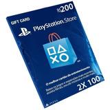 Cartão Playstation R$200 Reais (2x R$100 ) Br Brasil Psn