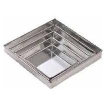 Conjunto De Formas Quadradas Altas 5 Peças Alumínio-10cm Alt