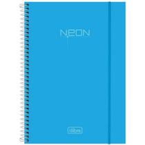 Caderno Univ Esp Cd 10 Matérias 200fls Top Neon Azul