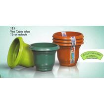 50 Pçs Vaso Plastico Planta Jardim Embalagem 16 Cm, 1000ml