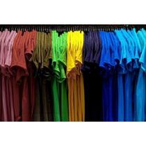 Camiseta Lisa 100%algodão Fio 30/penteado/p/m/49x62