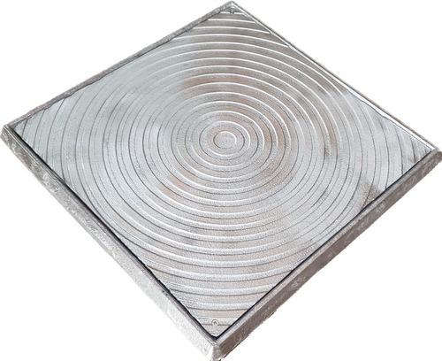 Tampa Tampão 50x50 Alumínio Fundido Gordura/esgoto/telefone