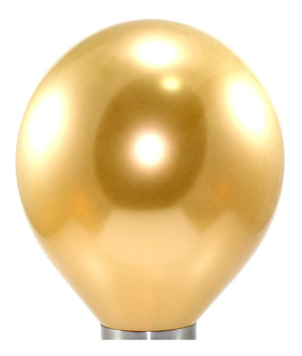 25 Unidades - Balão - Bexiga Cromado Metalizado Dourado