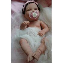Boneca Bebê Reborn Corpo Inteiro Vinil Siliconado