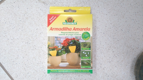 Armadilha Amarela Adesiva - 30 Plaquetas 13 Cm De Altura