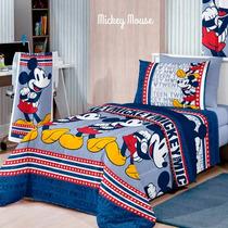 Jogo Lençol Solteiro 3 Peças Mickey Mouse - Santista