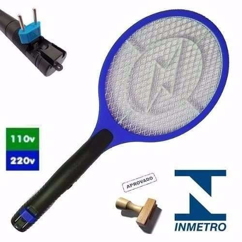 Raquete Elétrica Recarregável Bi-volt Mosquito Chikungunya