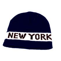 Touca Frio Inverno Lã New York Azul Royal Adulto