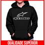 Moletom Alpinestars Masculino Casaco Canguru Blusa Moleton