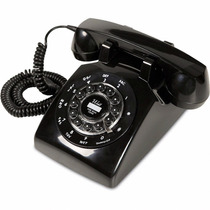 Telefone Retrô Vintage Antigo Fio Classic London Preto