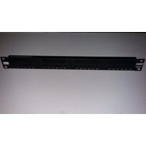Patch Panel Amp Netconnect 24 Portas Cat 5e, Semi Novo -100%