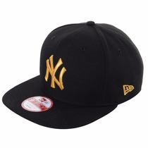 Boné Aba Reta Ny Yankees Black/gold Original Fit Snapback