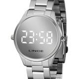 Relógio Lince Feminino Digital Prata Espelhado Mdm4617l Bxsx