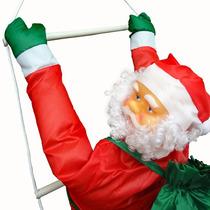 Papai Noel Na Escada, Natal, Escalador Enfeite Natalino