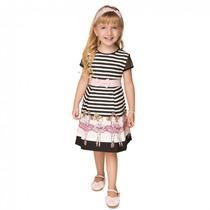 Vestido Infantil Feminino Bailarina Turma Da Malha
