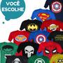 Kit Com 8 Camisetas Adulto De Super Herois Divertidas Geek