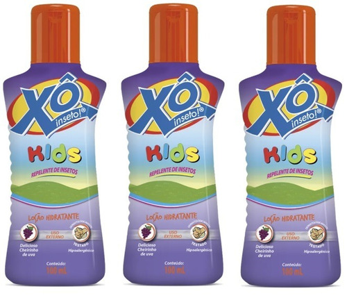 Kit 3 Repelente Xô Inseto Kids - 100ml Cada