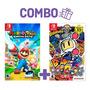 Combo Mario + Rabbids: Kingdom Battle + Super Bomberman R -