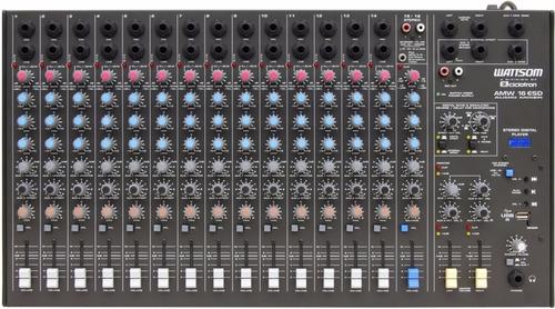 Mesa De Som / Mixer 16 Canais Usb Amw 16 Esd - Ciclotron