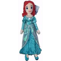 Princesa Ariel Boneca Pelúcia 55cm Disney Pequena Sereia