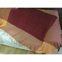 2 Mantas Vermelha Laranja Lençol Para Sofá Cama 2,30 X 1,50