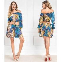 Vestido Curto Saia E Blusa Ciganinha Maria Gueixa Ref 3049