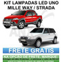 Kit Lampadas Led Fiat Uno Mille Way Fire Palio Strada