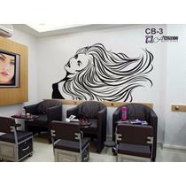 Adesivo Decorativo De Parede - Cabeleireiro Manicure - Cb-03