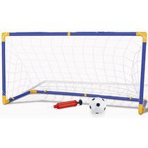 Kit De Futebol Infantil De Brinquedo 1 Bola 1 Trave Novo