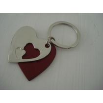 Chaveiro Coração Duplo Namorados Frete Gratis