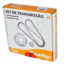 Kit Relação Cofap Ybr 125 2000 2001 2002 Aço 1045 C 424260