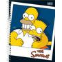 Caderno Escolar Capa Dura Universitário 10 Matérias Simpsons
