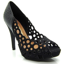 Peep Toe Salto Alto Vizzano 1805.106 - Maico Shoes Calçados