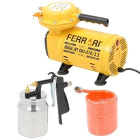 Compressor Ar Direto 1/2 Hp C/ Kit Cmj-210 Bivolt Ferrari