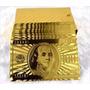 Baralho Dourado Ouro 24k Folheado Truco Poker Cartas Jogo