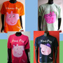 Kit Familia Camisetas Personalizado Peppa Pig