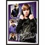 Poster(quadro) Em 3d Com Moldura Justin Bieber Novo!