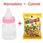 30 Mini Mamadeira + Coloreti Chá De Bebê Rosa Melhor Preço
