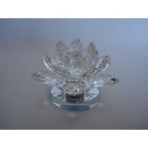 Flor De Lótus De Cristal Transparente 10cm