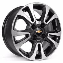 Roda Aro 14 Gm Chevrolet Onix/ Prisma - R42 Preta Diamantada
