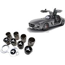 Bico De Pneu Cromado Mercedes Benz Frete Gratis