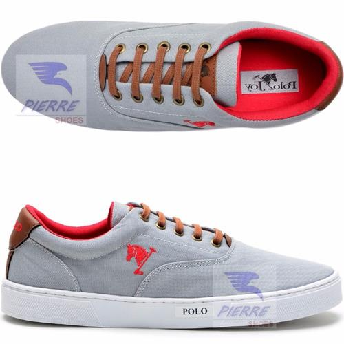 6d4799ce8b4 Sapatenis Sapato Tenis Polo Joy Casual Masculino Feminino