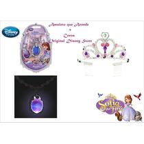 Disney Store Amuleto Colar Princesinha Sofia Coroa Original