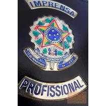 Porta Cédulas E Documentos Couro Legítimo Imprensa Prof C59p