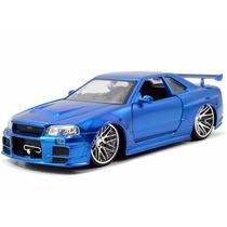 Nissan Skyline Gt-r R34 Azul Velozes E Furiosos 7 1:24 Jada